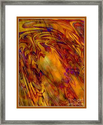 Radiant - Abstract Art With Border Framed Print by Carol Groenen