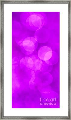 Radiant Orchid Abstract Framed Print by Jan Bickerton