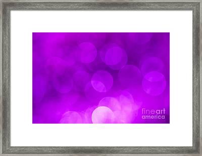 Radiant Orchid Bokeh Framed Print by Jan Bickerton