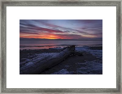 Radiant Rise Framed Print by CJ Schmit