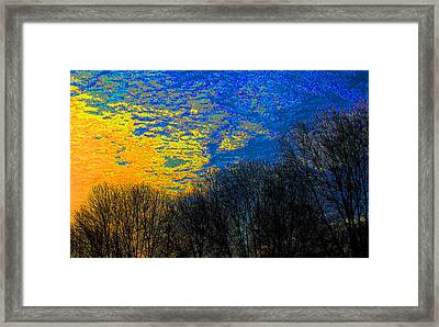 Radiant Skyline Framed Print by James Hammen