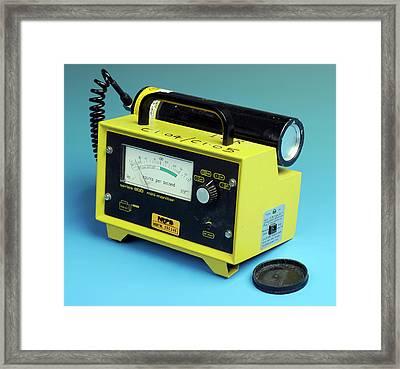 Radiation Detector Framed Print by Public Health England