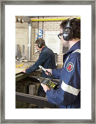 Radiation Monitoring Framed Print by Crown Copyright/health & Safety Laboratory Science Photo Library