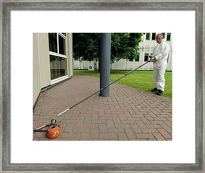 Radiation Monitoring Training Framed Print by Public Health England