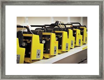 Radiation Monitors Framed Print by Public Health England