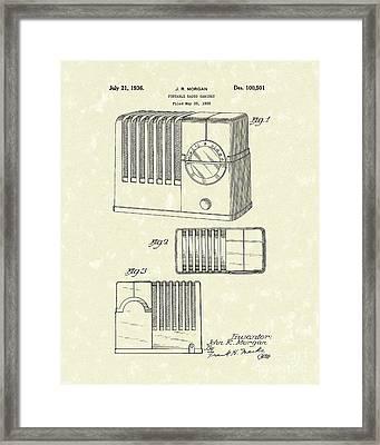 Radio Cabinet 1936 Patent Art Framed Print by Prior Art Design