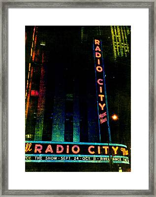 Radio City Grunge Framed Print by Joann Vitali