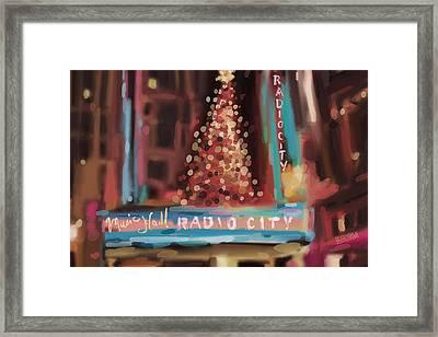 Radio City Music Hall Christmas New York City Framed Print by Beverly Brown Prints