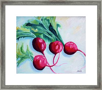 Radishes Framed Print by Todd Bandy