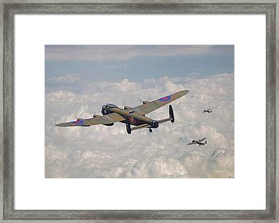 Raf Lancaster - Conclusion Framed Print by Pat Speirs
