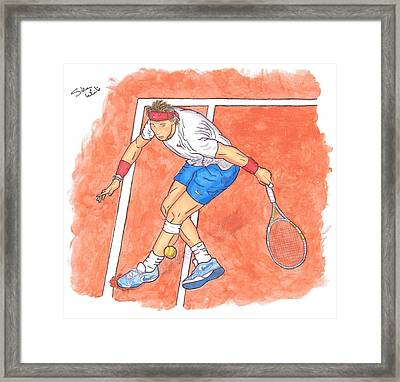 Rafa On Clay Framed Print by Steven White