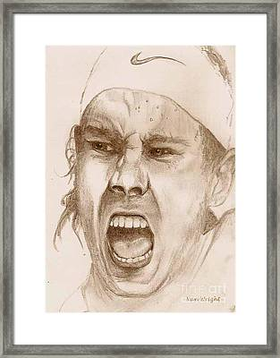 Rafael Nadal Framed Print by Nan Wright