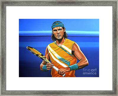 Rafael Nadal Framed Print by Paul Meijering