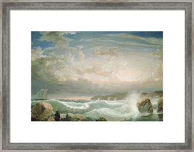 Rafes Chasm Gloucester   Massachusetts Framed Print by FH Lane