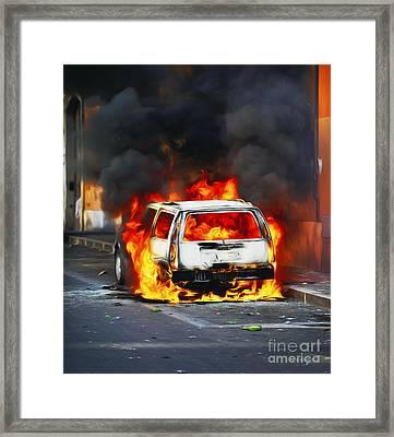 Rage In The Street Framed Print by Stefano Senise
