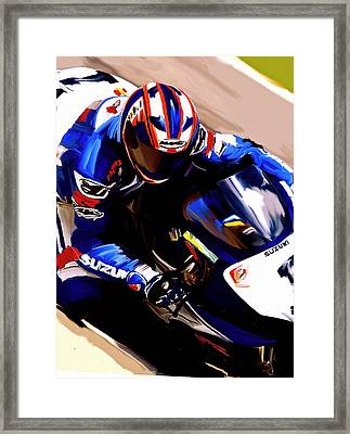 Rage With Machine Mat Mladin Framed Print by Iconic Images Art Gallery David Pucciarelli