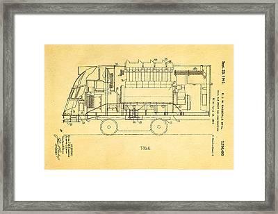 Ragsdale Pioneer Zephyr Train 2 Patent Art 1941 Framed Print by Ian Monk