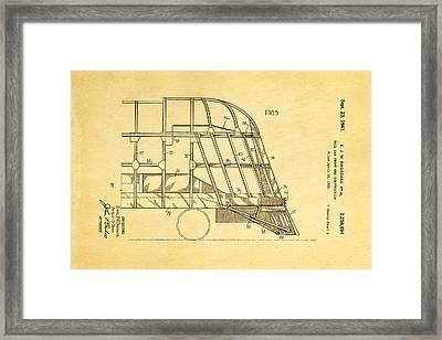 Ragsdale Pioneer Zephyr Train 4 Patent Art 1941 Framed Print by Ian Monk