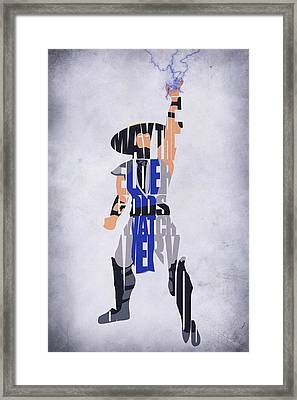 Raiden - Mortal Kombat Framed Print by Ayse Deniz