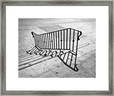 Railing Framed Print by Larry Butterworth