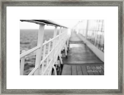 Railings Framed Print by Anne Gilbert