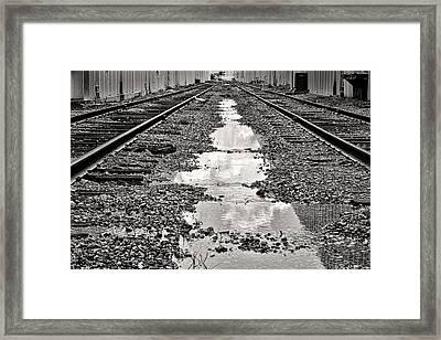 Railroad 5715bw Framed Print by Rudy Umans