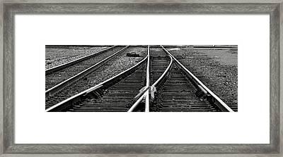 Railroad Highway Framed Print by Jason Drake