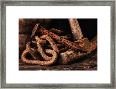 Railroad Spike Still Life Framed Print by Tom Mc Nemar