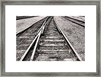 Railroad Switch Framed Print by Olivier Le Queinec