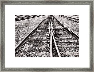 Railroad Tracks Framed Print by Olivier Le Queinec