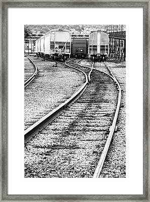 Railroad Yard Framed Print by Olivier Le Queinec