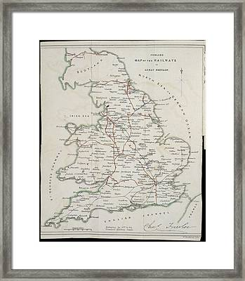 Railway Map Framed Print by British Library