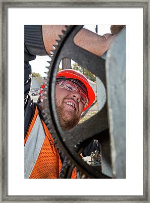 Railway Signal Maintenance Framed Print by Jim West