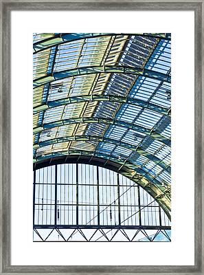 Railway Station Roof Framed Print by Tom Gowanlock