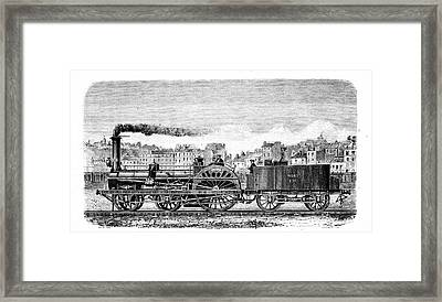 Railway Steam Locomotive Framed Print by Universal History Archive/uig