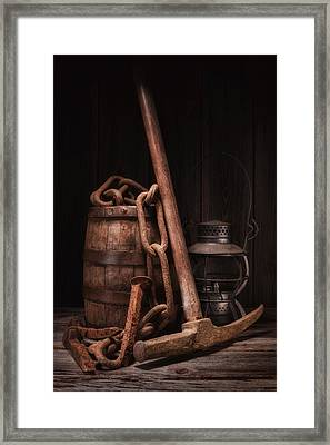Railway Still Life Framed Print by Tom Mc Nemar