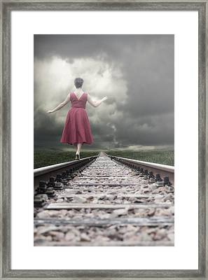 Railway Tracks Framed Print by Joana Kruse