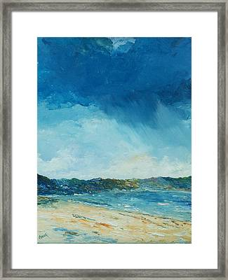 Rain A Comin Framed Print by Conor Murphy