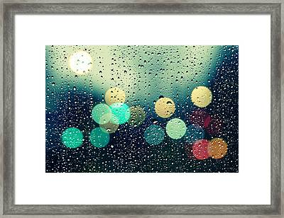 Rain And The City Framed Print by Beata  Czyzowska Young