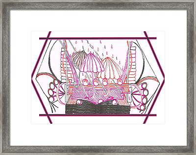 Rain Drops Framed Print by Becky Sterling
