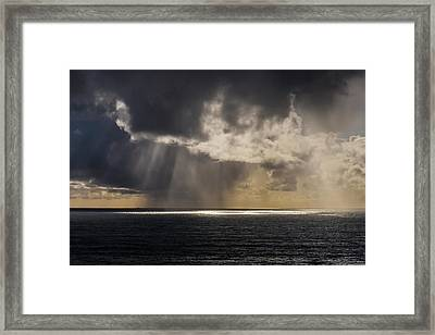 Rain Falls In The Distance Framed Print by Robert L. Potts