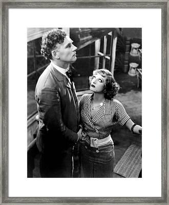 Rain, From Left, Walter Huston, Joan Framed Print by Everett