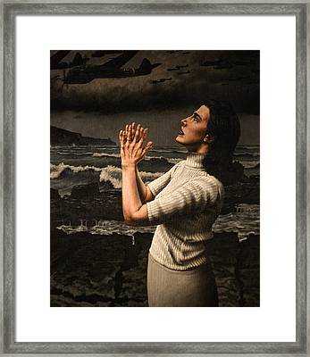 Rain Framed Print by Mark Zelmer