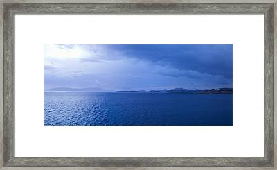 Rain Storm In The Sea, Bodrum, Mugla Framed Print by Panoramic Images