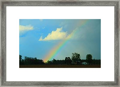 Rainbow After The Storm Framed Print by Dan Sproul