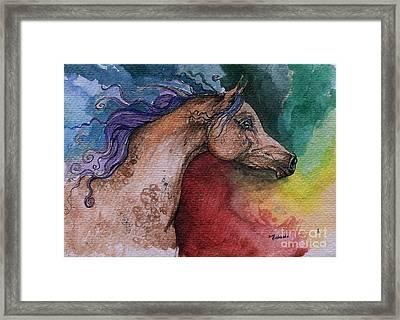 Rainbow Arabian Framed Print by Angel  Tarantella