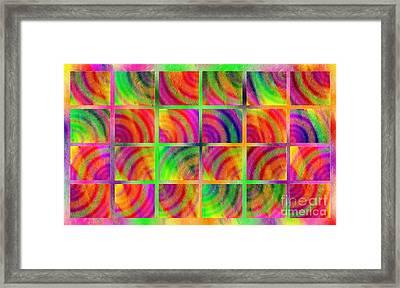 Rainbow Bliss 3 - Over The Rainbow H Framed Print by Andee Design
