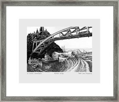 Rainbow Bridge La Connor W A Framed Print by Jack Pumphrey
