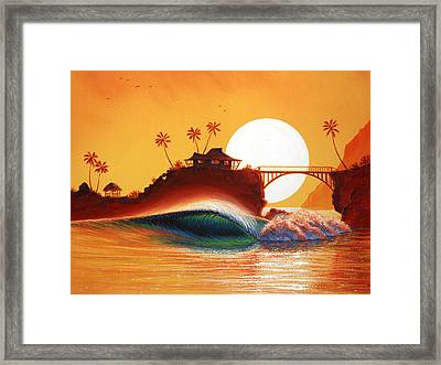 Rainbow Bridge Framed Print by Patrick Parker