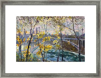 Rainbow Bridge Framed Print by Ylli Haruni